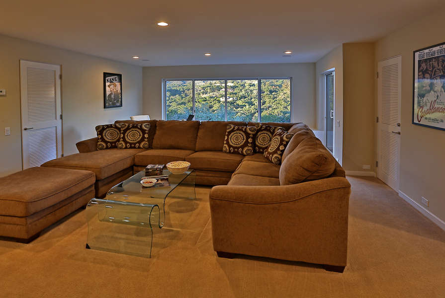 Media Room with large flat screen TV