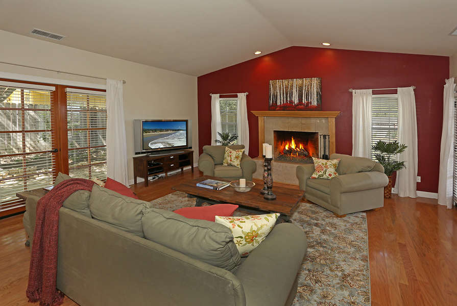 Living Room opens to back and side yards