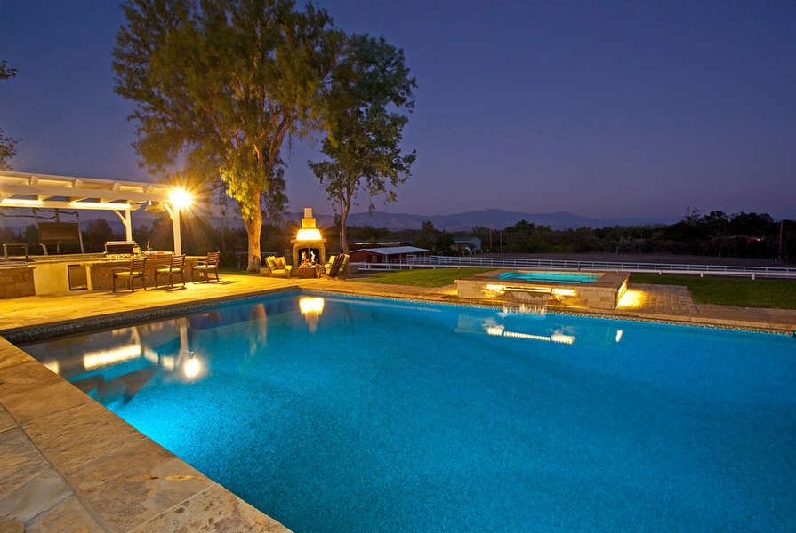 Take an evening dip in the pool or spa