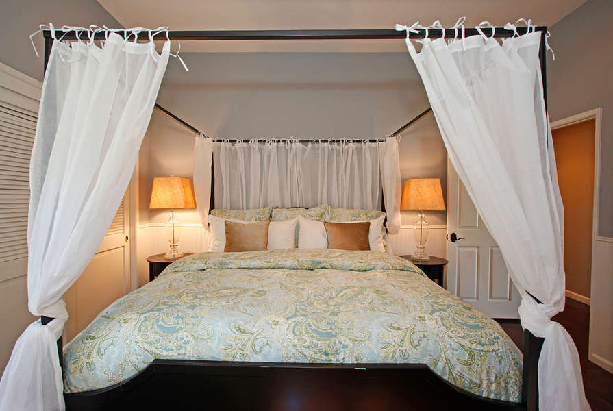 Second Master Bedroom with king bed and full bath