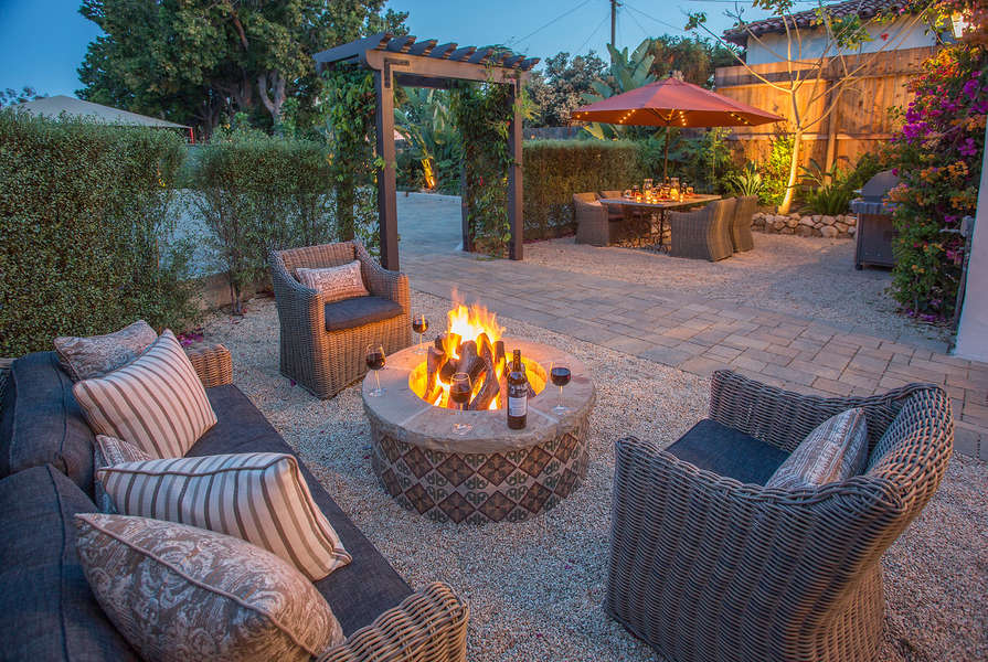 The fire pit is a great after dinner spot under the stars