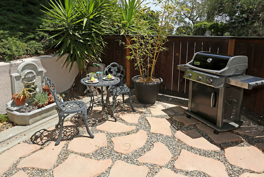 Great spot to keep an eye on the grill!