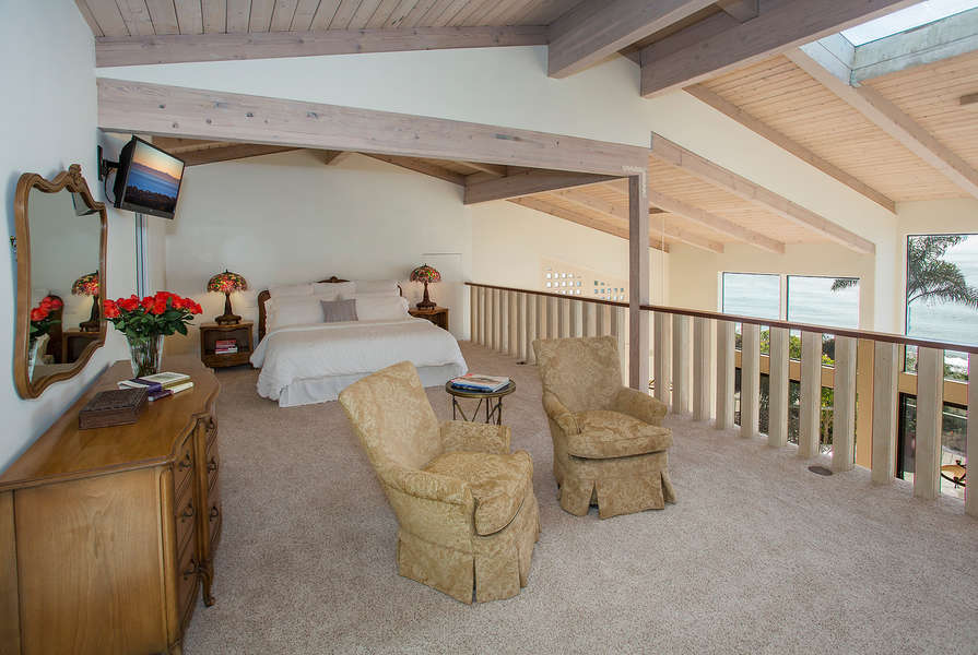 Master Suite offers a king-size bed, walk-in closet