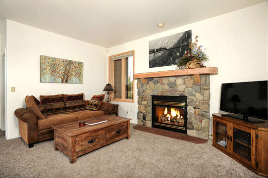 Main family room with fireplace