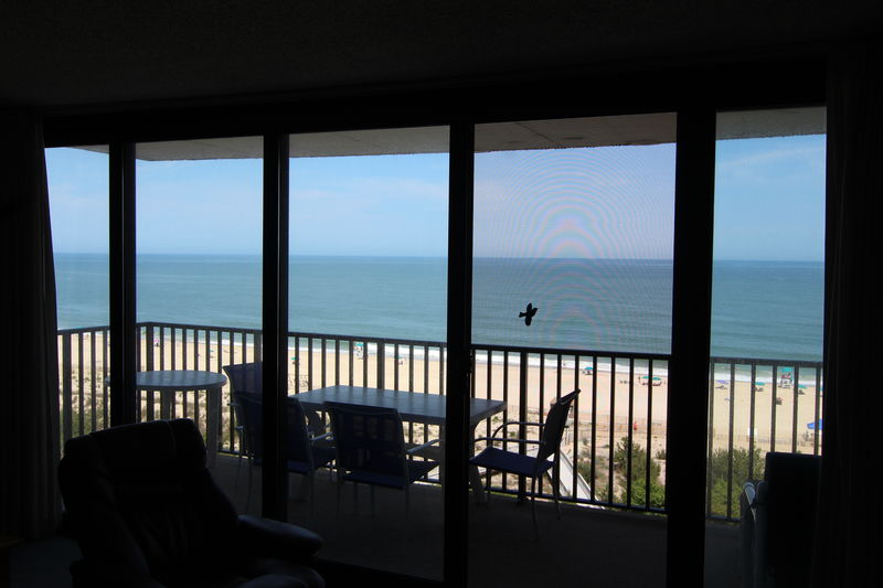 Ocean View through living room