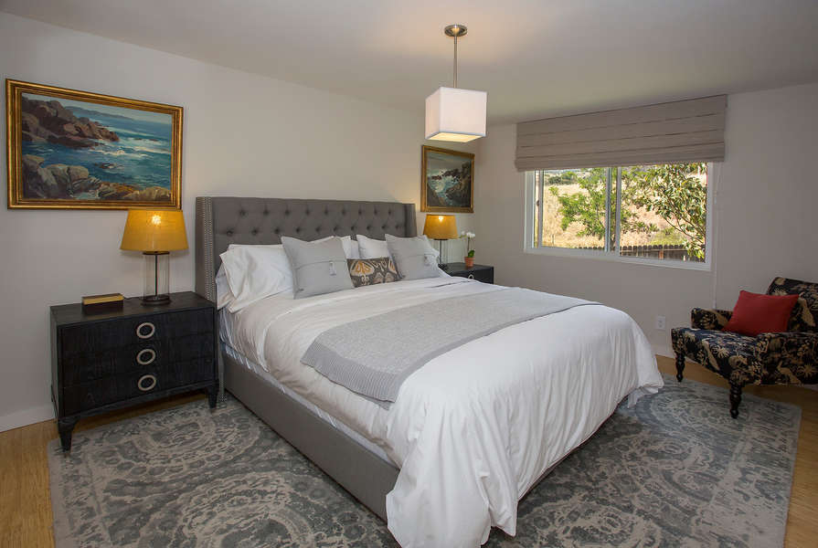 Master Bedroom has foothill views