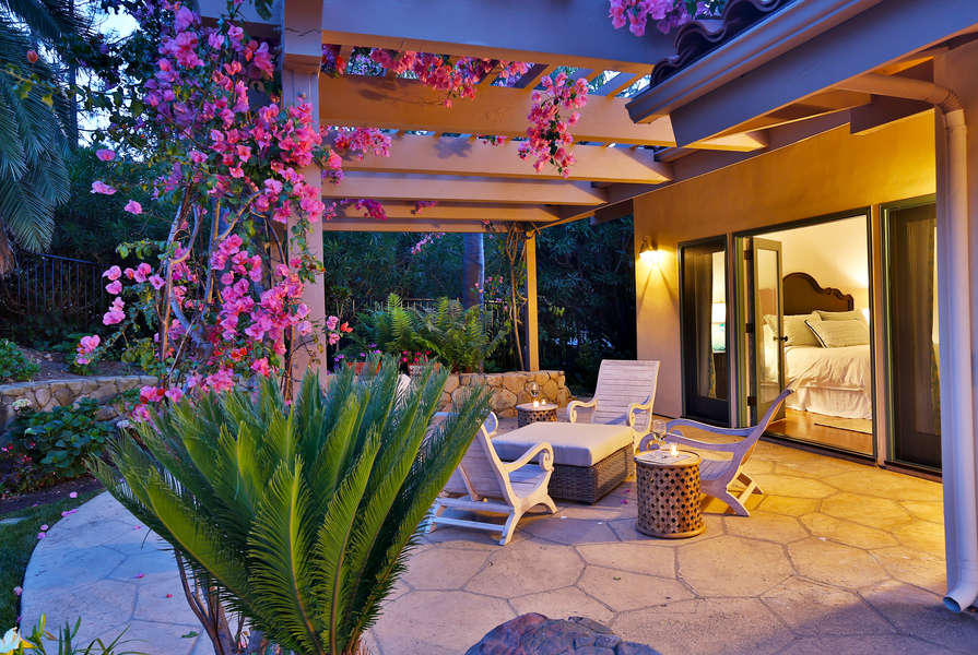 Enjoy a quiet moment on the patio off Master Bedroom