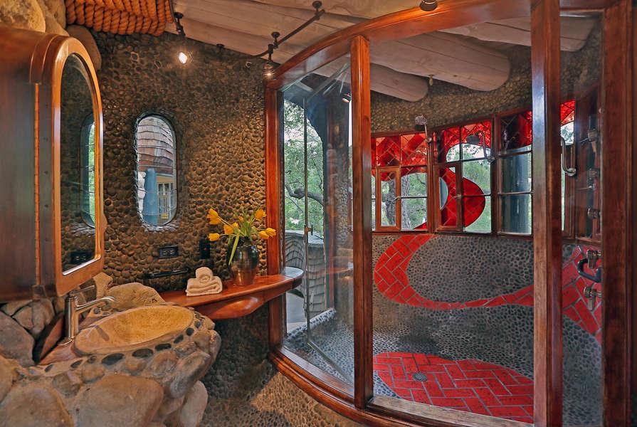 3rd floor Master Bathroom, door opens to balcony