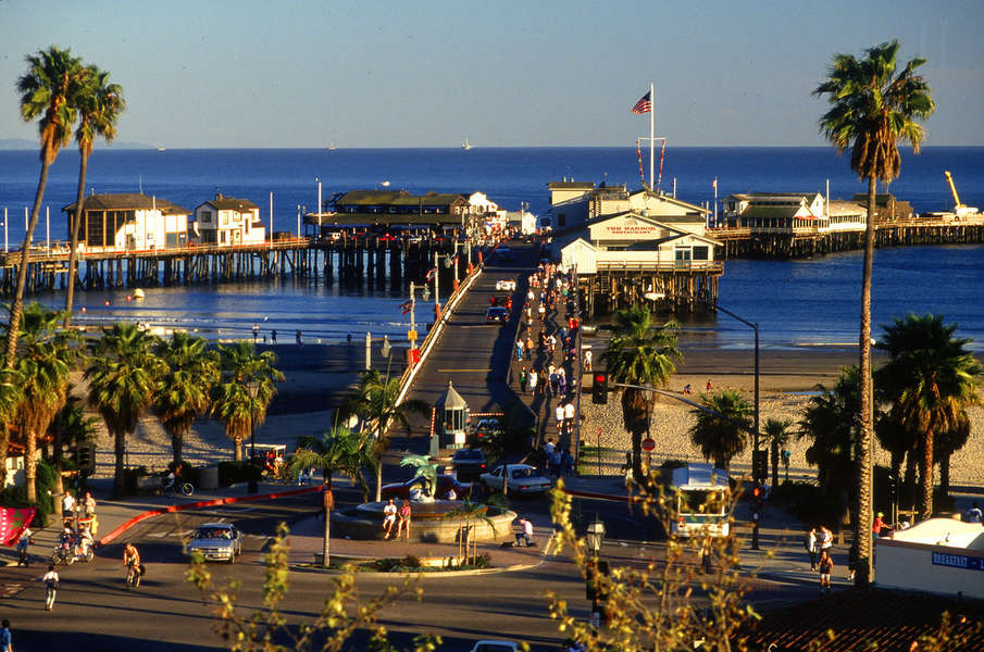 Visit Stearns Wharf and the beach