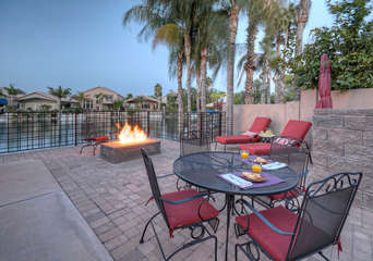 Picture yourself here with your favorite drinks and people enjoying the fire pit and amazing lake ambiance