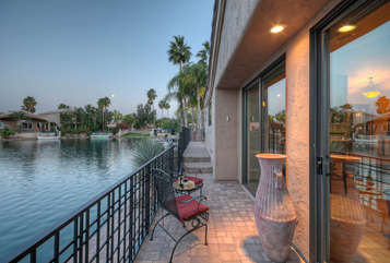 Tranquil lake views are yours to enjoy both day and night
