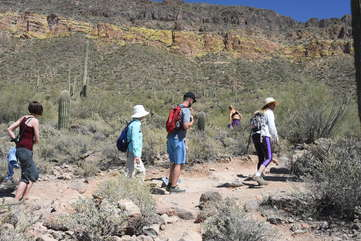 Hiking to spectacular mountain vistas is popular with guests of all ages