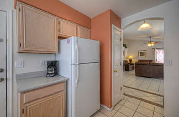 Cook will enjoy working in cheerful kitchen with comforts of home