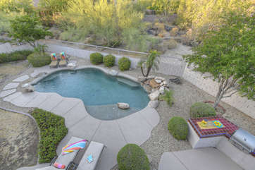Exquisite pool with newly painted deck can be heated for additional fee