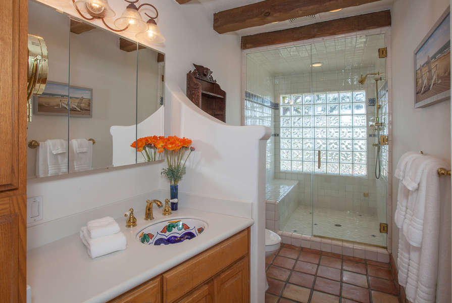 Bathroom #2 w/beautiful tile accents