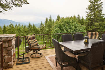 Deck and View off of the dining room -Star View Lodge