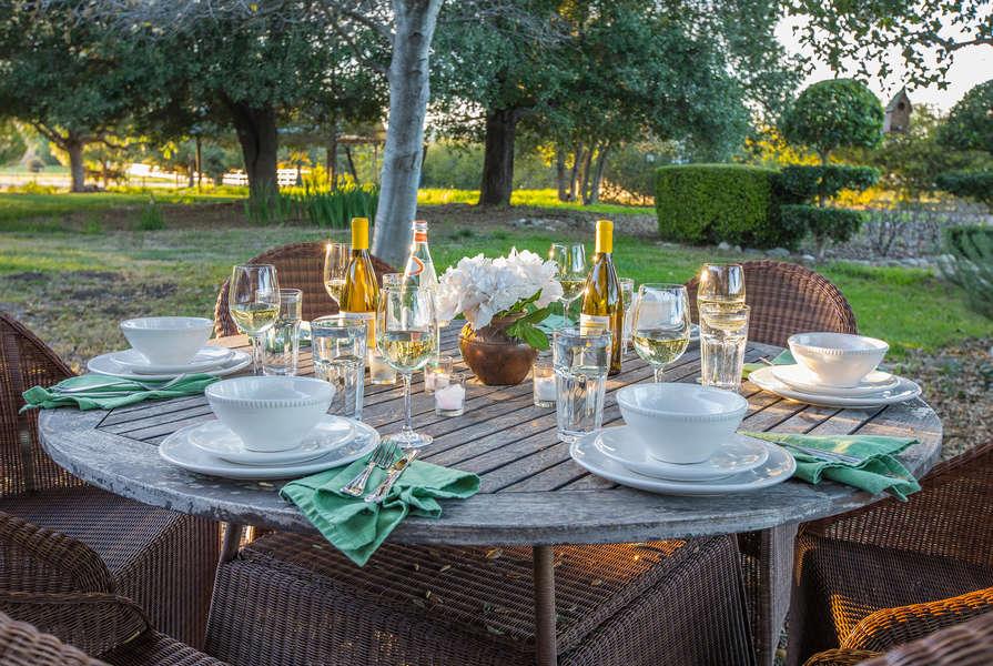 Enjoy a nice outside dinner