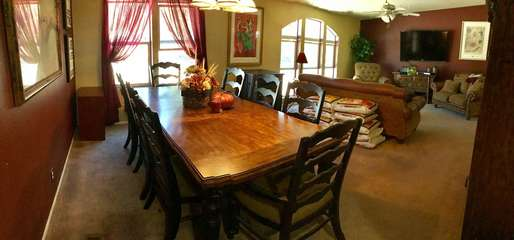Beautiful, large dining table seats 8 comfortably