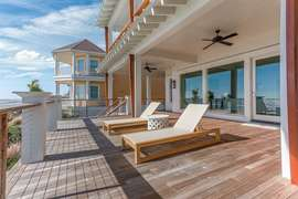 Lounge chairs on first deck