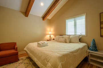 Comfortable Master Bedroom with King Size Bed
