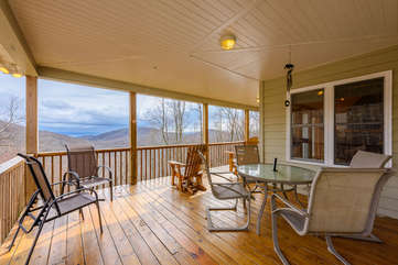 Covered Porch with Comfortable Seating, Outdoor Dining