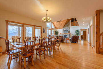 Wildlife Manor Great Room with Dining, Kitchen and Living Room on Main Floor