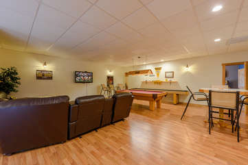 Wildlife Manor Game Room on First Floor Includes Pool Table, Card Table, Darts, Ping Pong