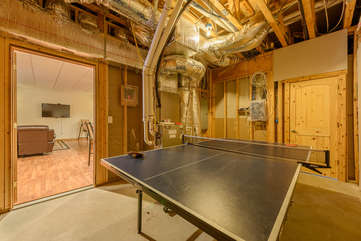 Wildlife Manor Ping Pong Table on First Floor, just off Pool Table Game Room