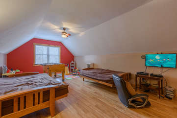 Upstairs Kids' Bedroom with Play Space, TV