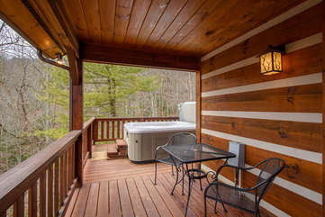 Hot Tub Located On Deck