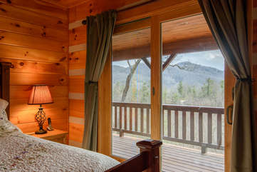 Master Bedroom with Private Deck Access