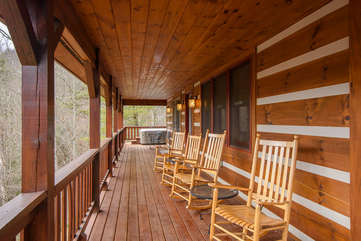 Lots of Seating on Covered Deck