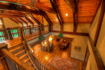 Adirondack Entry Way and Stairs