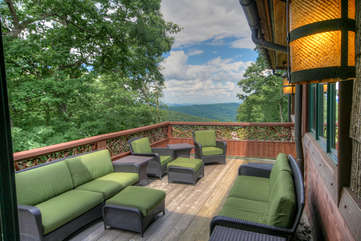 Adirondack Outdoor Seating on the Main Level