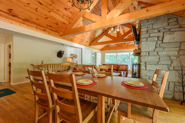 Dining Area opens into Living, Kitchen