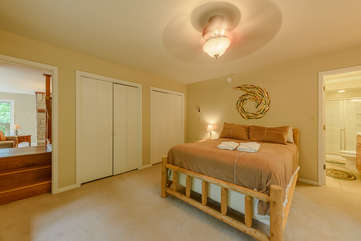 Master Bedroom opens into downstairs Living Area