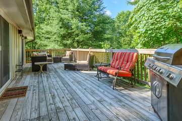Almost Heaven Deck with Lots of Seating and Grill