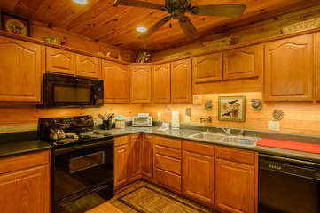 Angels Peak Fully Equipped Kitchen