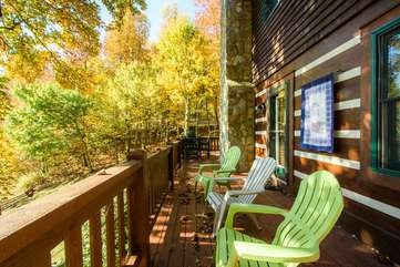Seating Area on Back Deck