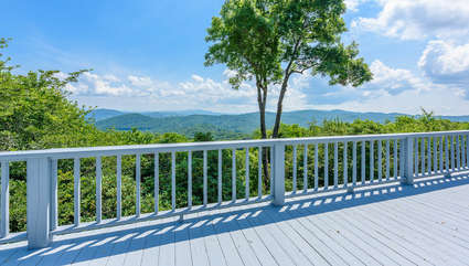 Gorgeous Long Range Views from the Deck