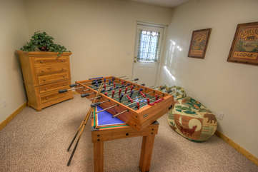 Bean Bag Cabin numerous gaming options, all available with this Game Table