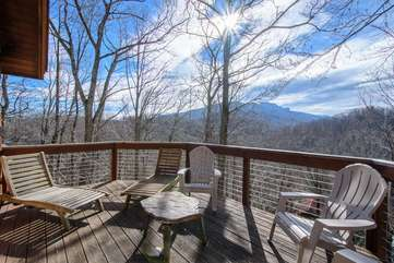 Big Rock Lodge Beautiful winter time view of Grandfather Mountain from upstairs deck