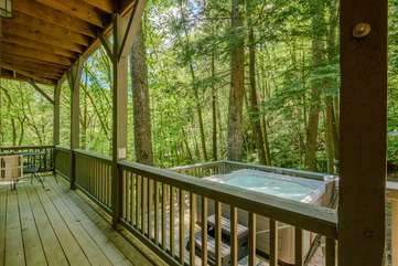 Lower Level Deck opens onto Hot Tub Deck