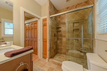 Bathroom with Stone Shower
