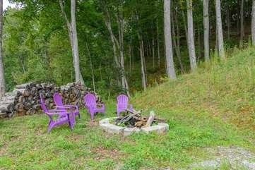 Fire Pit Located at Property