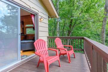 Private Deck Accessible from Upper Level King Bedroom