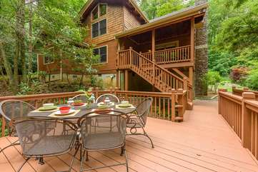 Deck above the Creek