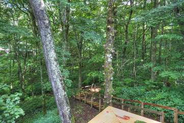 Walkway to Fire Pit and to Creek