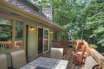 Patio with Outdoor Dining and plenty of Seating