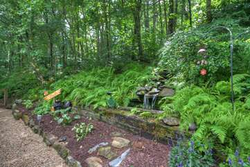 Lush Landscaping and Pea Gravel Walkway